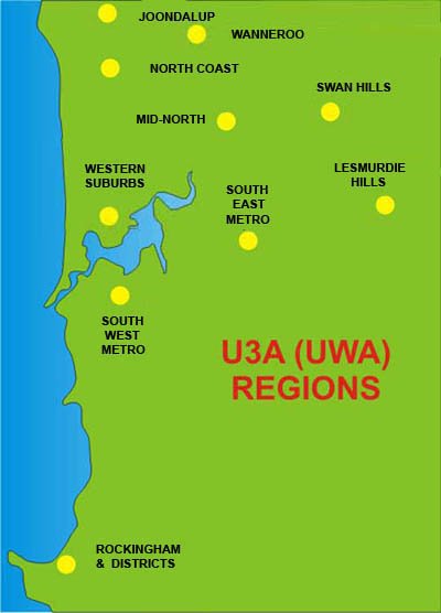 Regions location map
